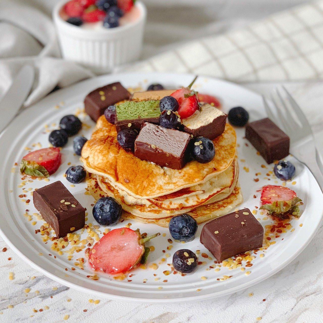 高蛋白椰香鬆餅早午餐