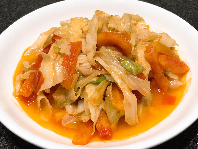 番茄炒高麗菜~全素