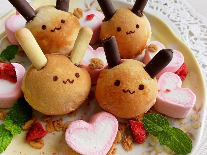 兔兔牛奶鬆餅球