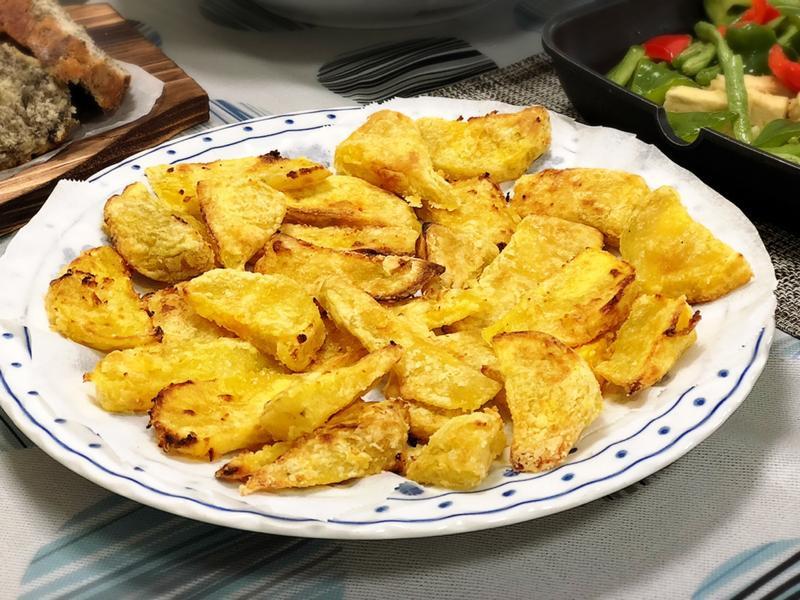 酥炸地瓜(水波爐料理)