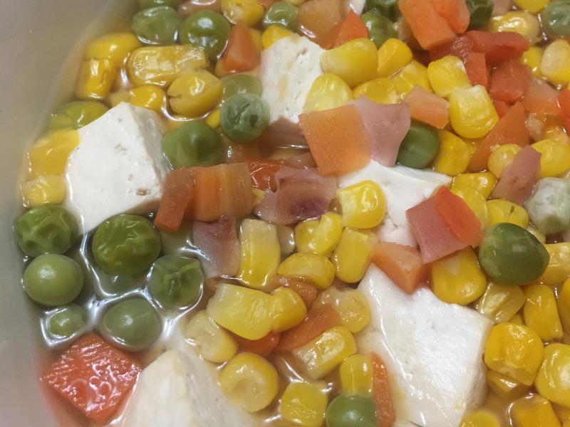 電鍋版-三色玉米豆腐