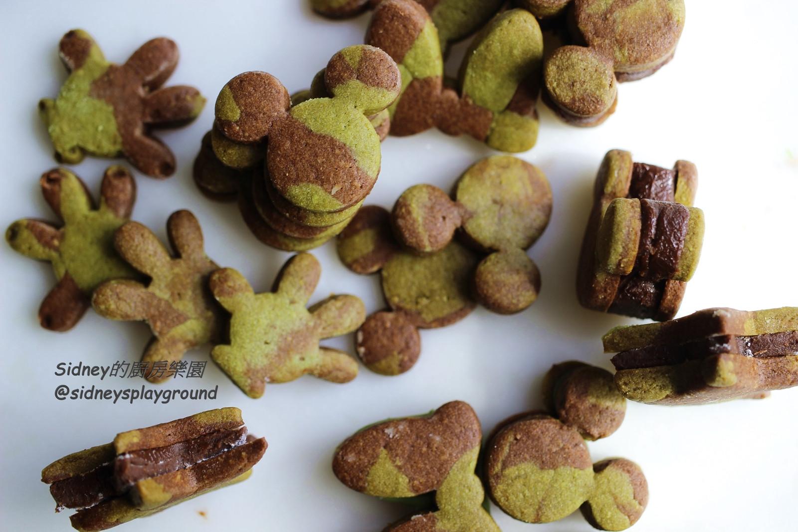 雙色壓模生巧克力夾心餅乾