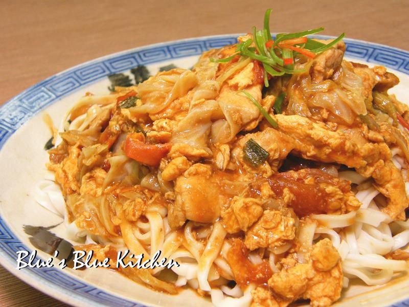 蕃茄蛋雞肉燴麵