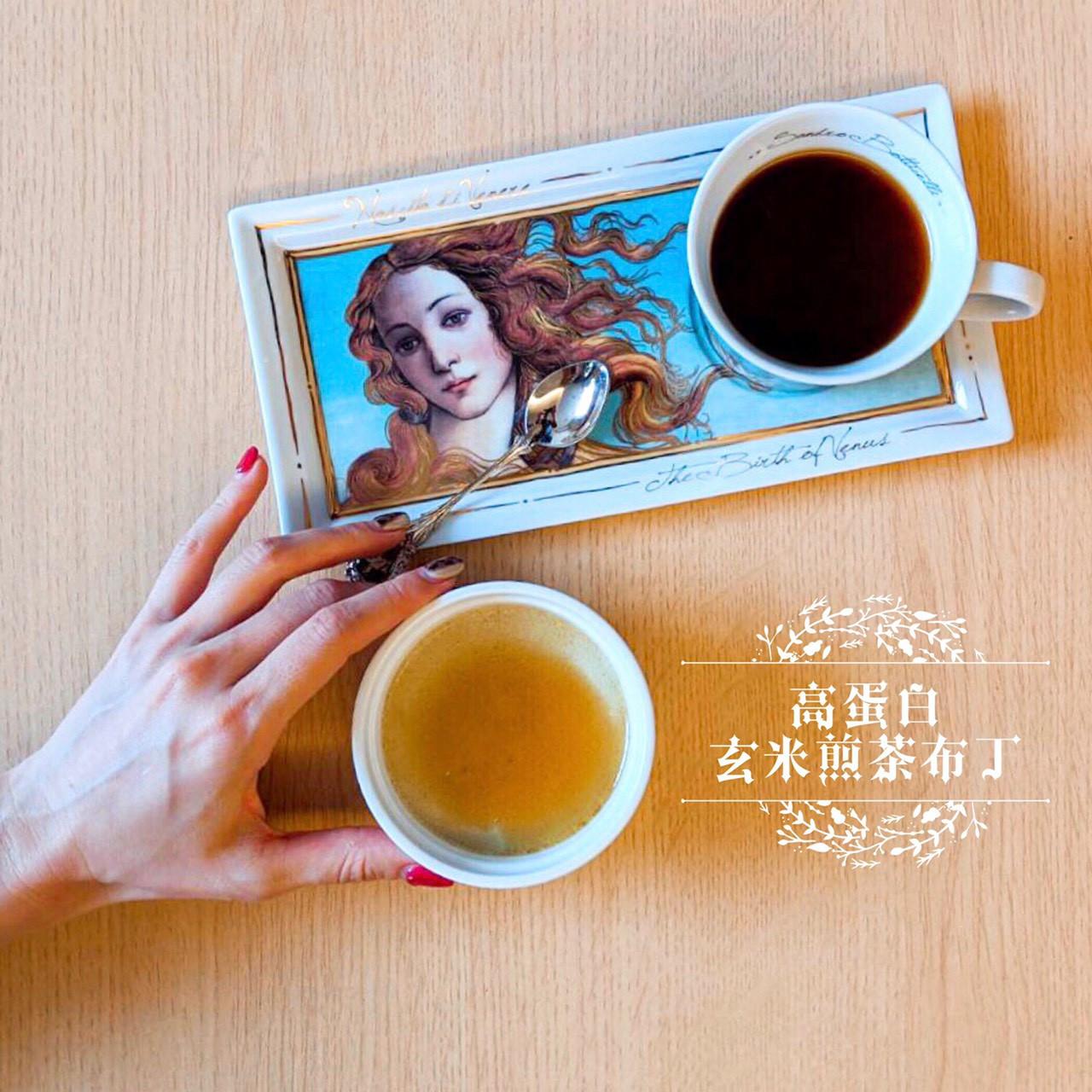 高蛋白玄米煎茶布丁