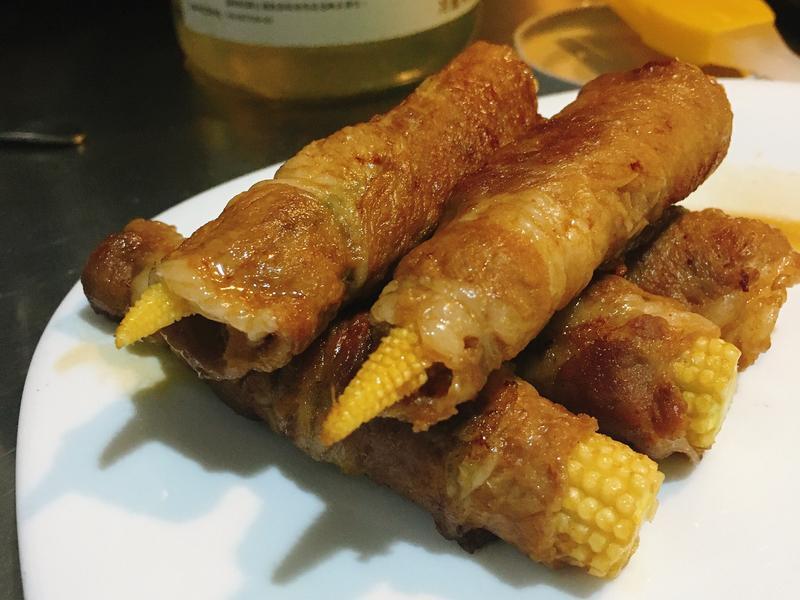 蔥蔥玉米筍豬肉捲(減醣料理)
