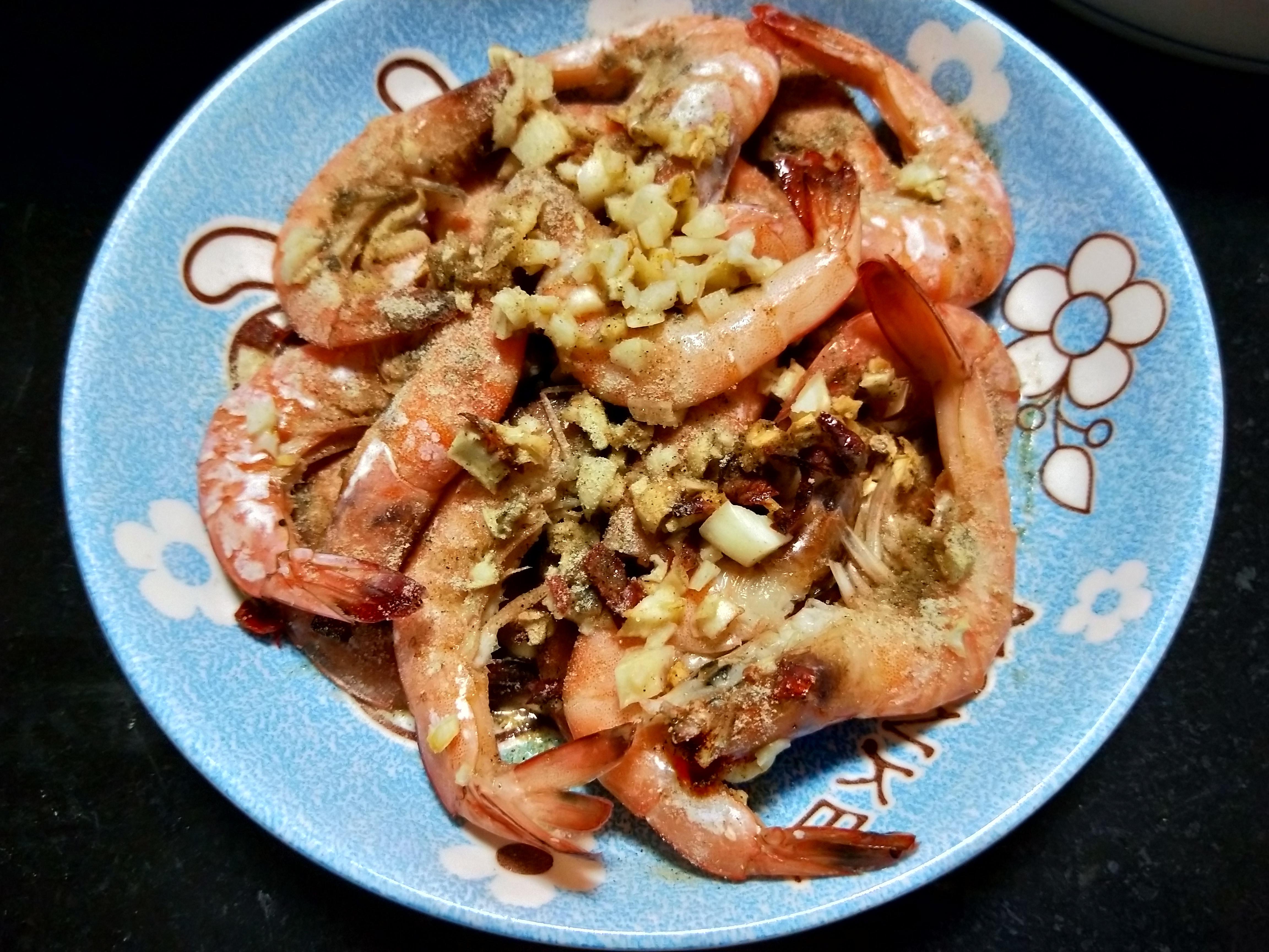 氣炸出美食-蒜頭胡椒蝦