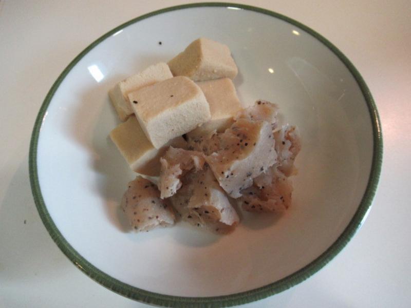 煮高野豆腐(kouya-doufu)蒟蒻