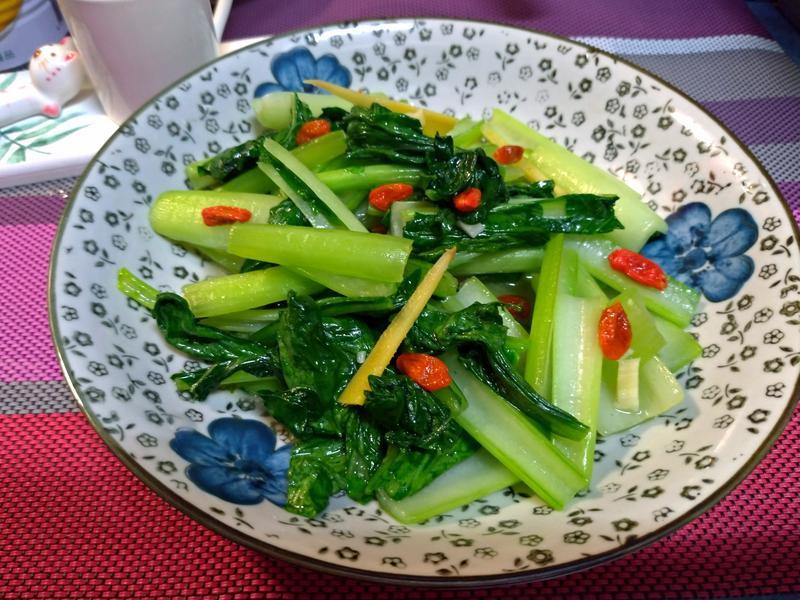香薑枸杞炒油菜