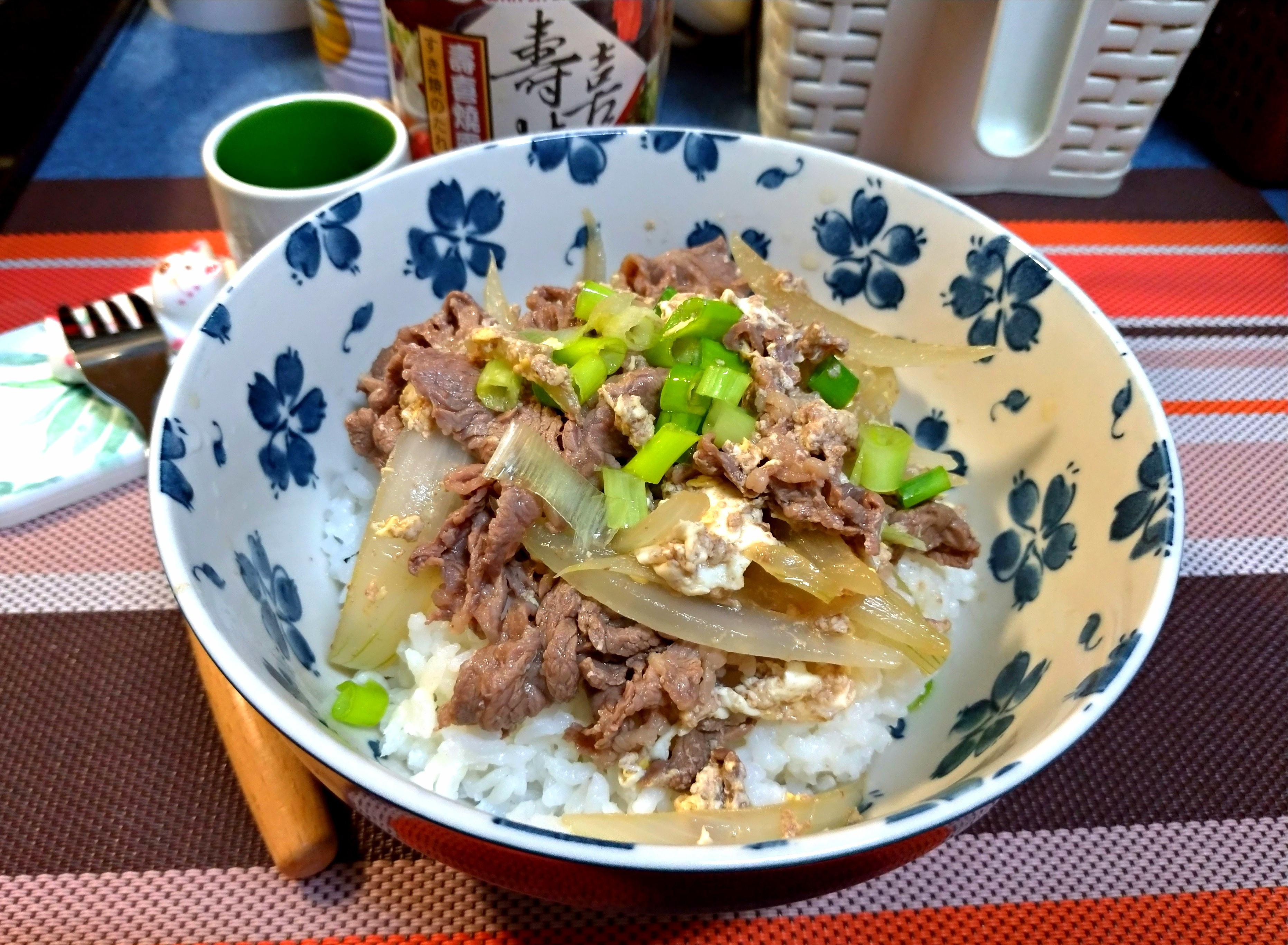壽喜燒牛肉丼飯