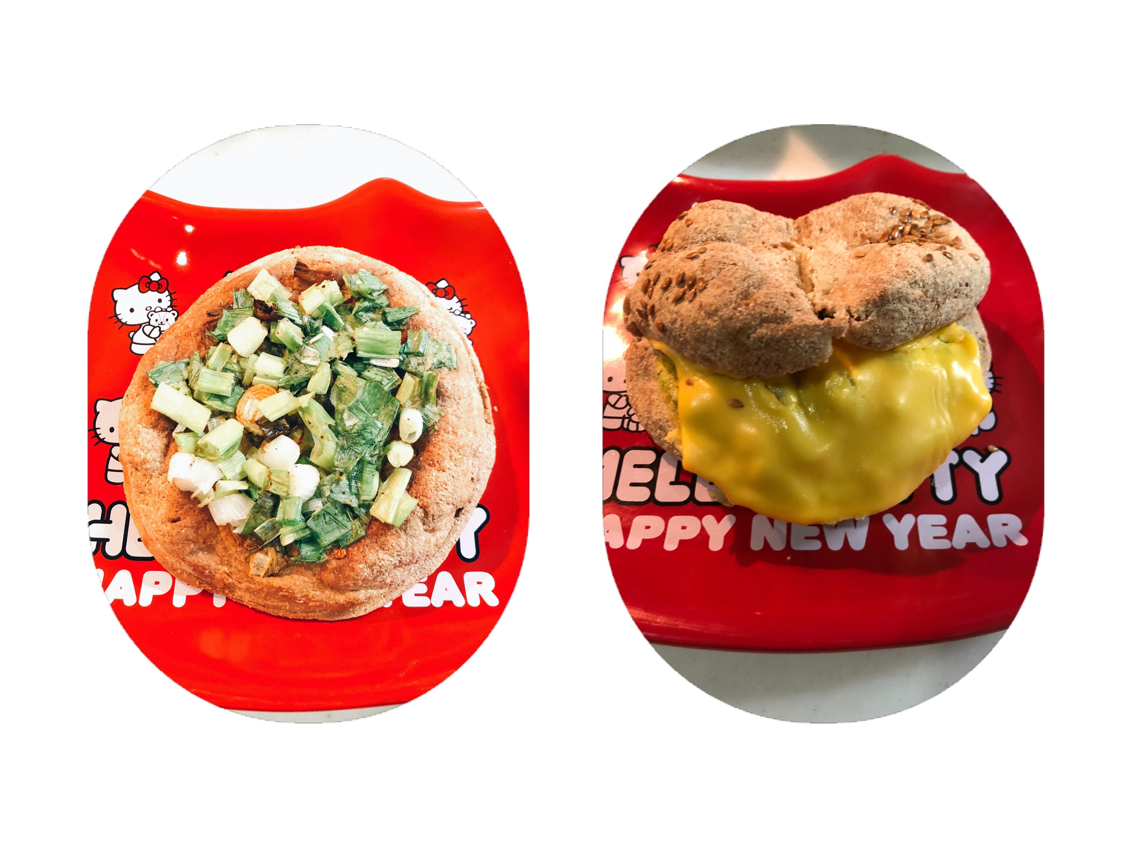 生酮版青蔥麵包/蔥蛋起司漢堡