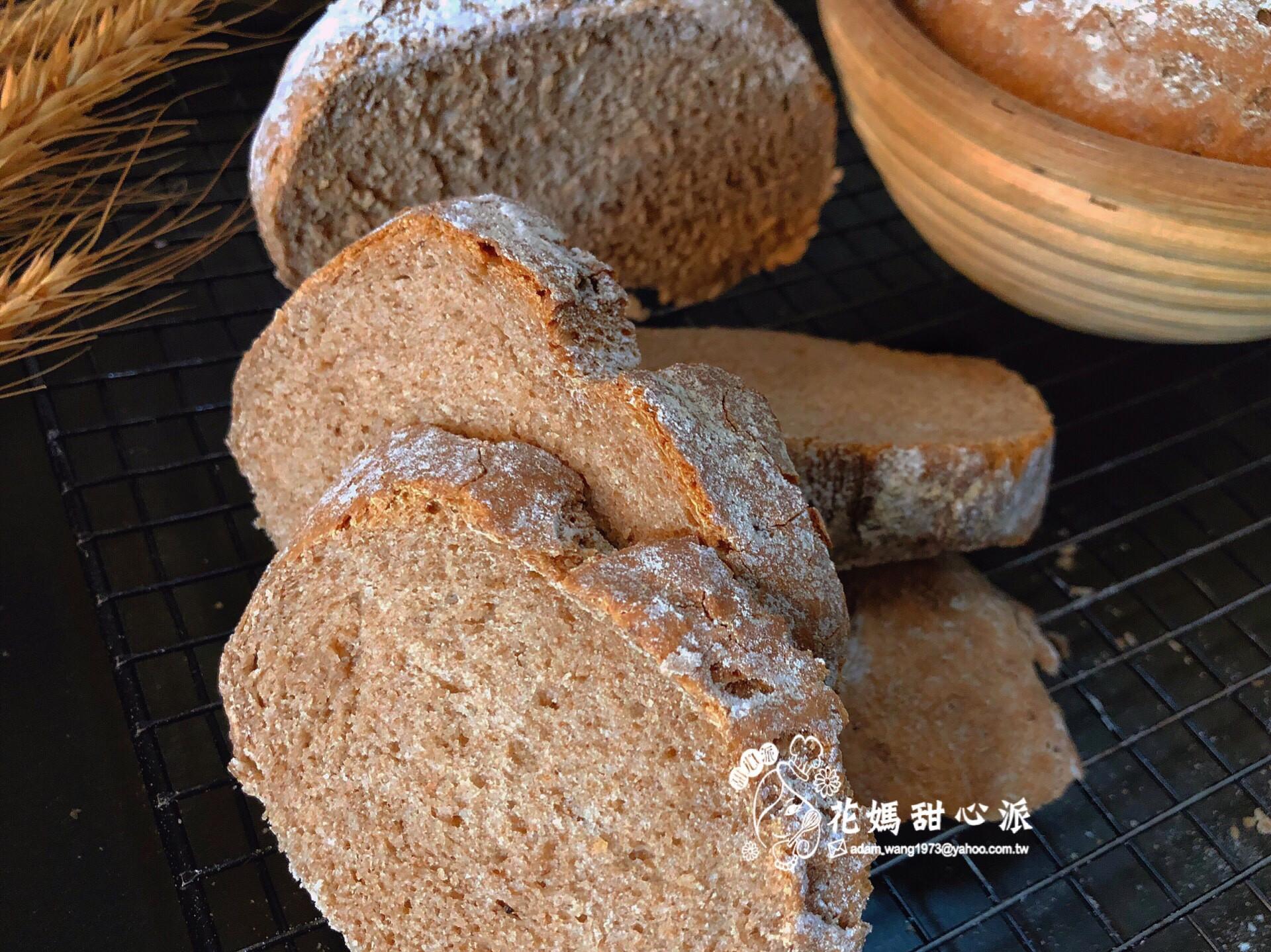 全麥鄉村麵包無油無糖配方
