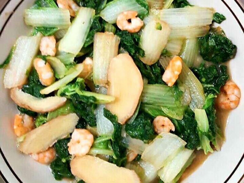 蝦仁炒小白菜