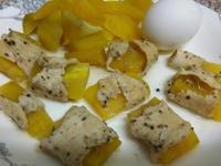(電鍋料理)地瓜雞肉卷+水煮蛋
