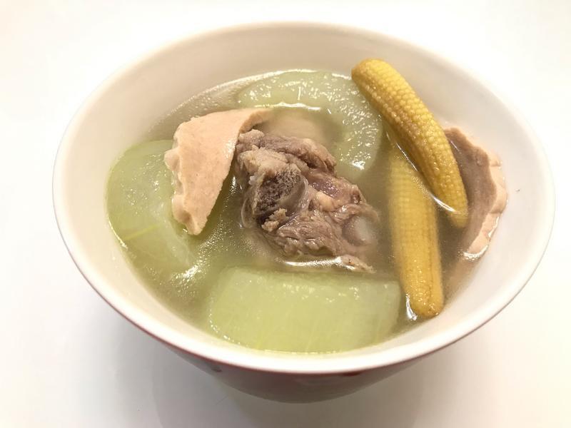 👩🏻🍳火腿玉黍大黃瓜排骨湯