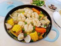 花枝丸蕈菇蔬菜鍋