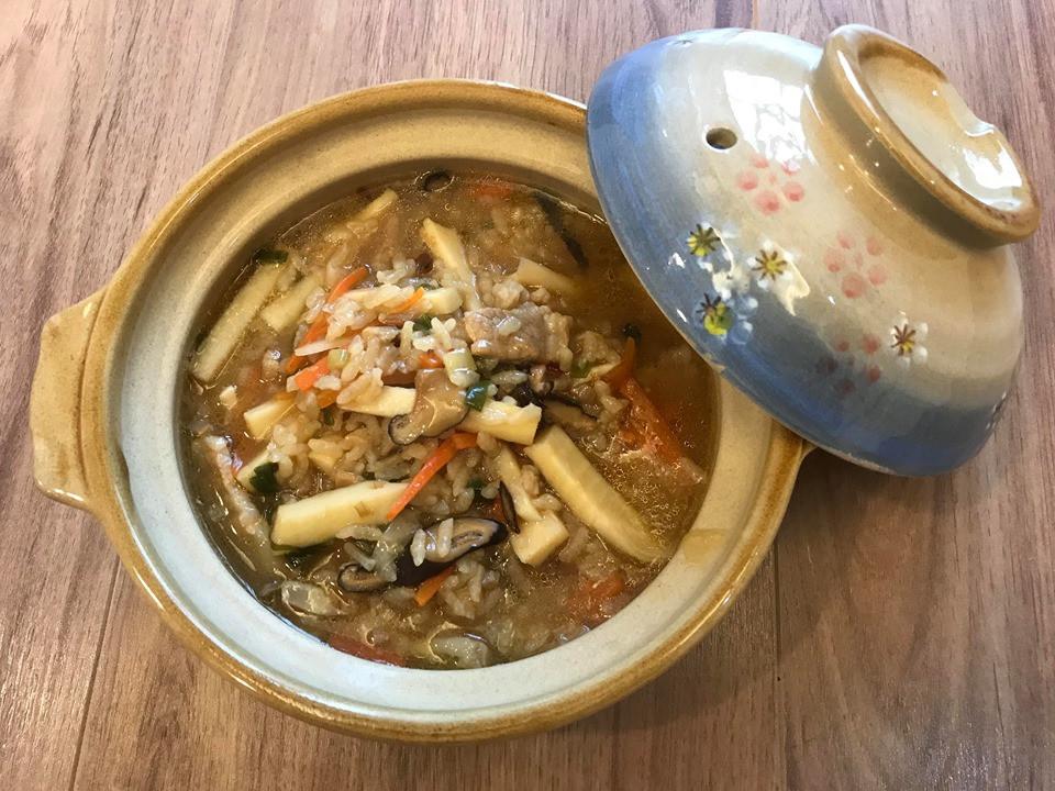 古早味香菇竹筍肉絲粥