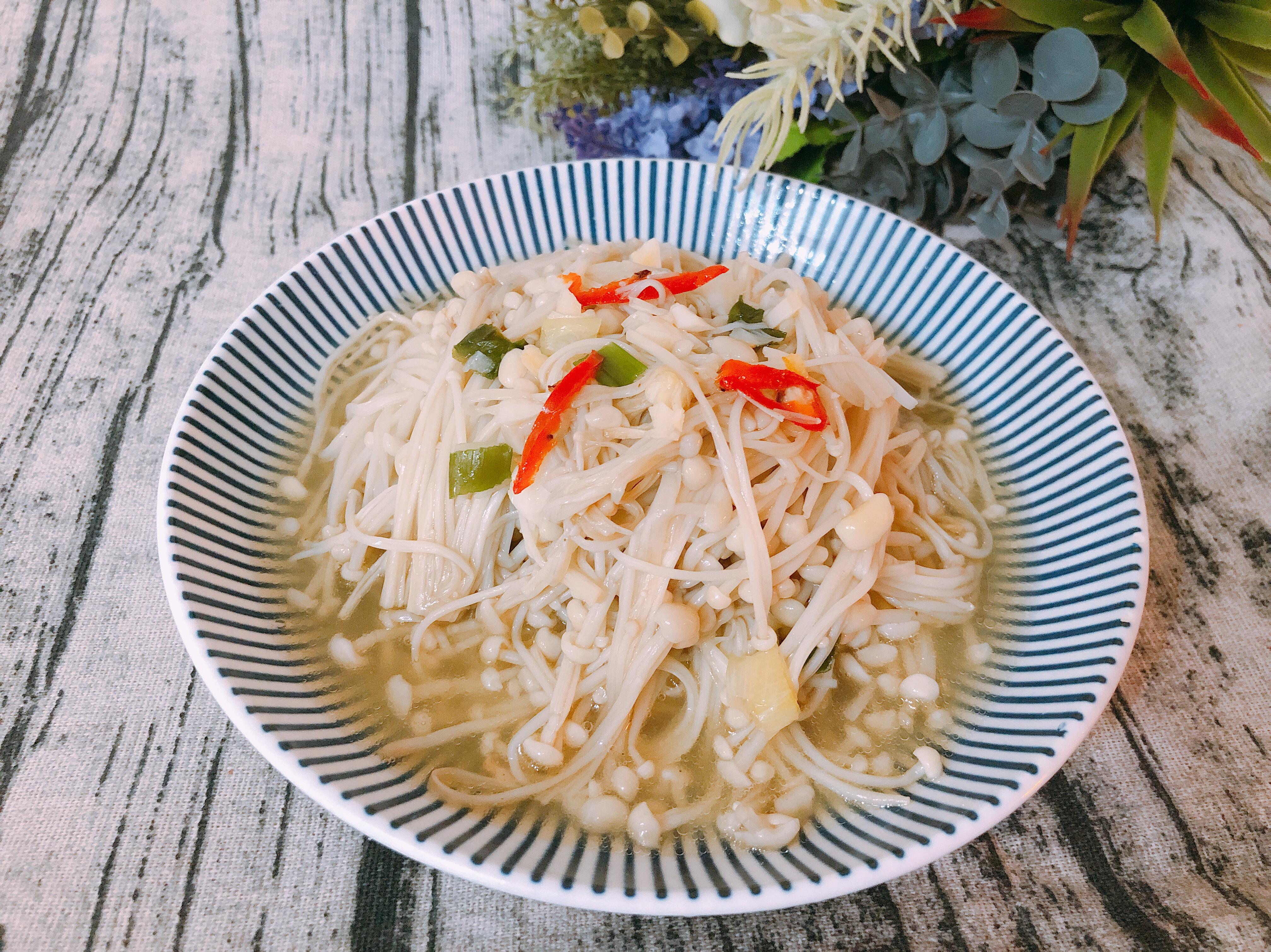 氣炸鍋料理-奶油金針菇