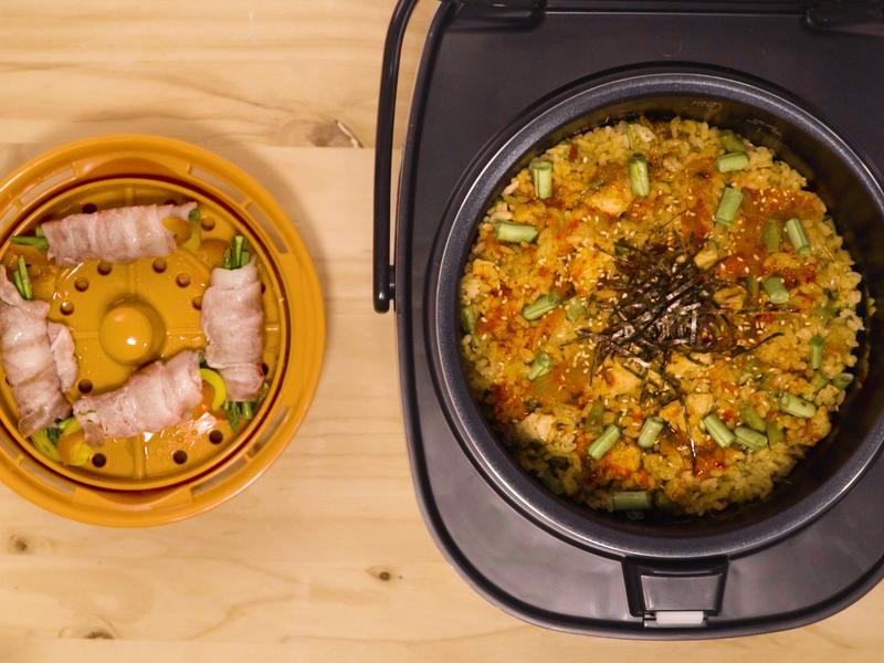 鮮蔬豬肉捲+泡菜燉飯