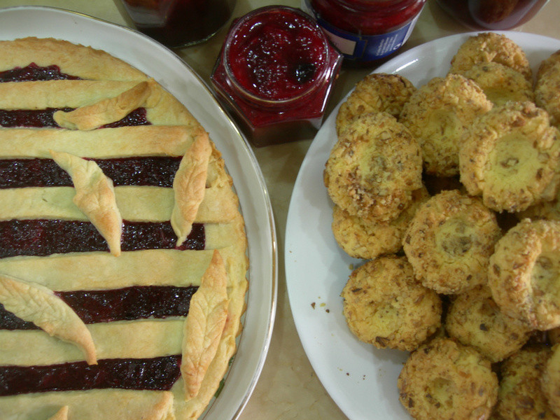 綜合莓果果醬VS指印核桃餅乾