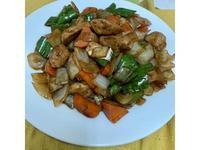 醬燒貢丸炒三蔬