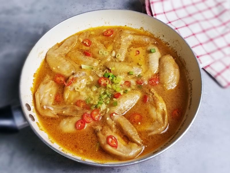 [香辣豆腐乳燒雞翅] 下飯家常菜