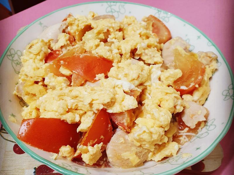 番茄雞肉滑蛋