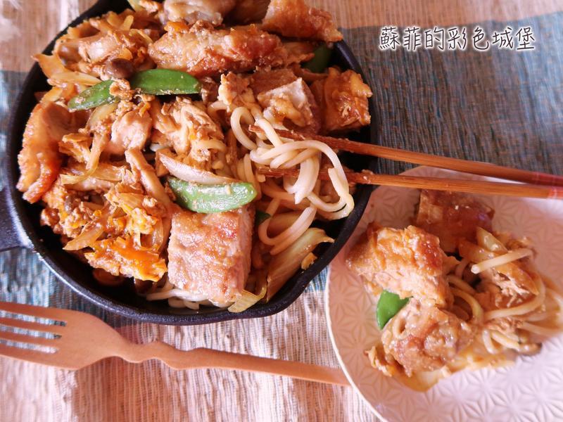 日式親子烏龍麵丼