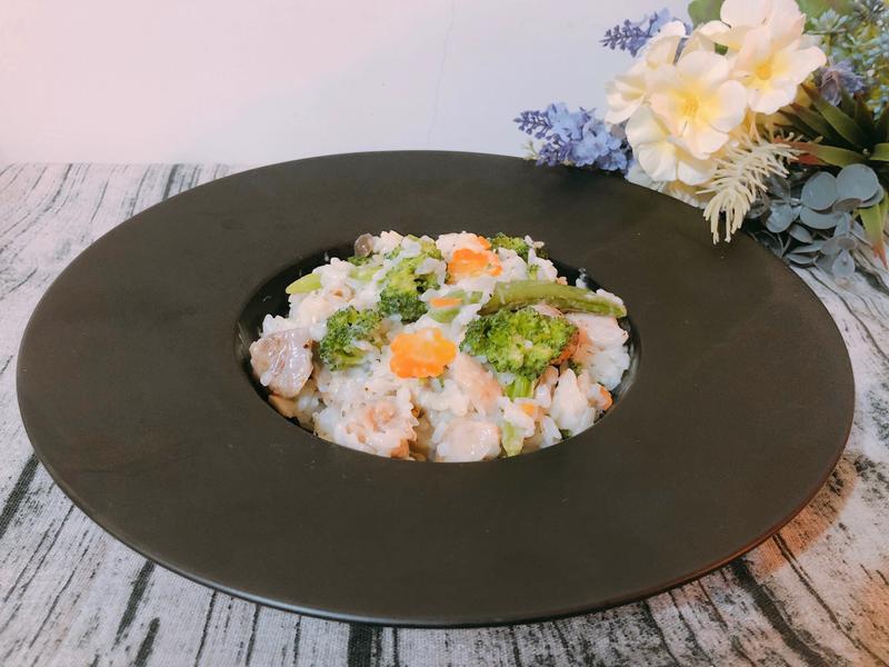 白醬野菇雞肉燉飯