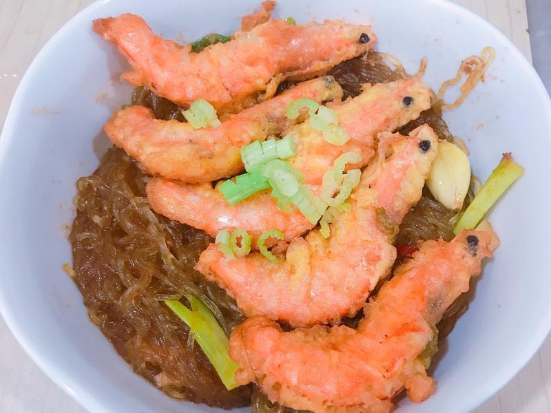 鮮蝦沙茶粉絲煲
