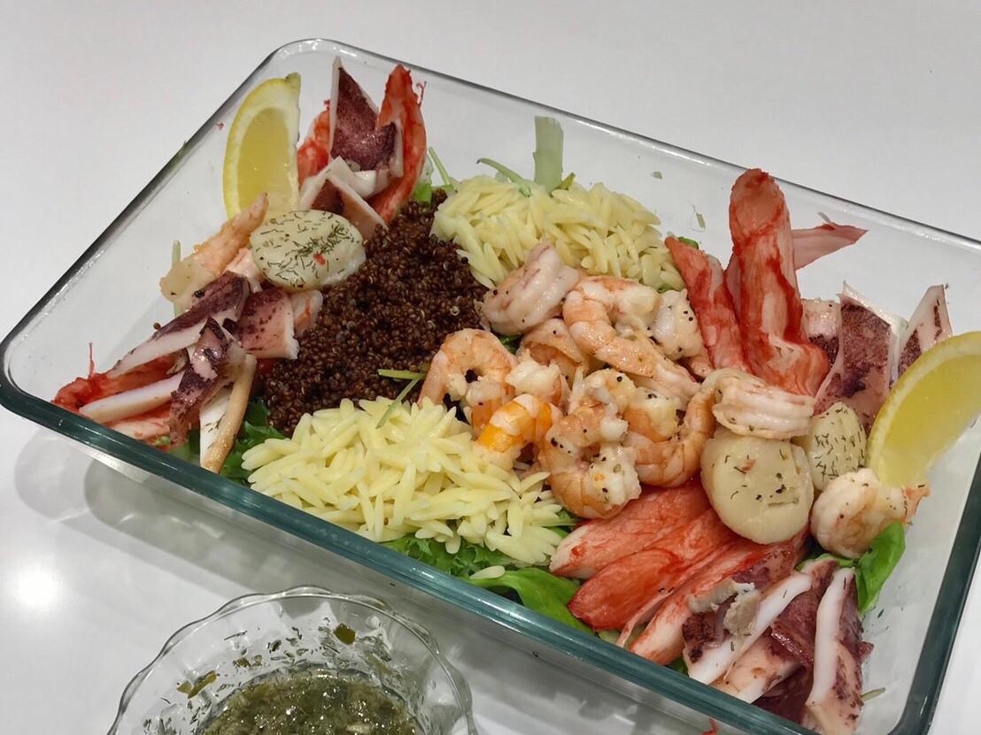 地中海式海鮮沙拉