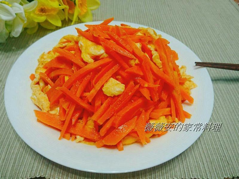 簡易家常菜~紅蘿蔔炒蛋