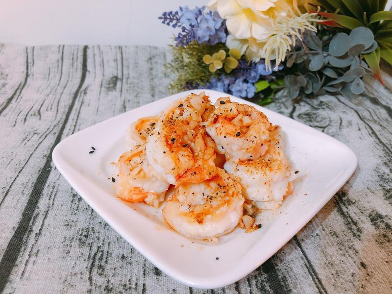 海鮮料理-乾煎奶油蒜蝦