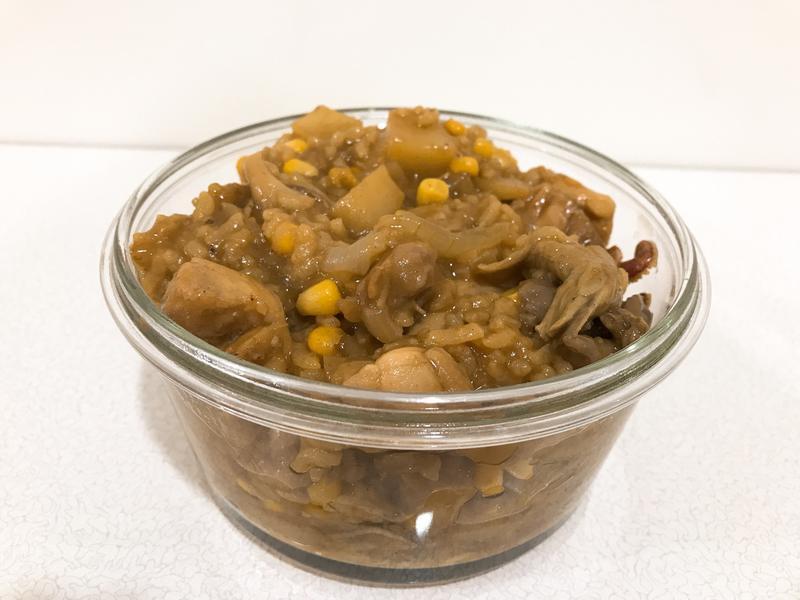 電子鍋料理-咖哩蔬食雞肉燴飯