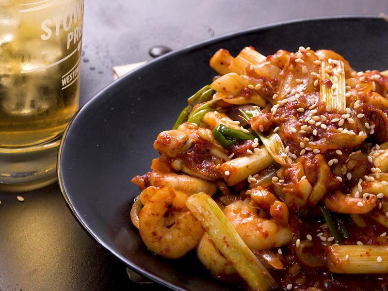 韓式辣炒海鮮