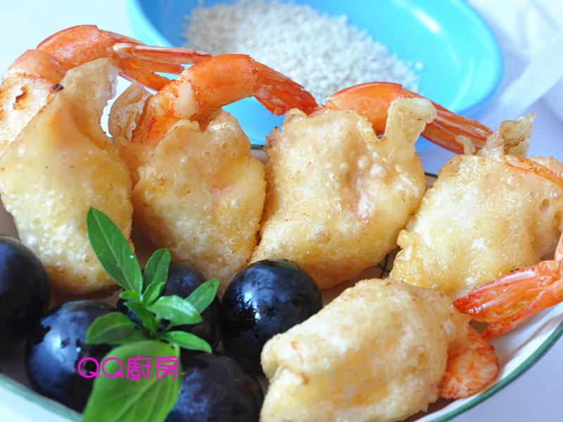 【黃金玄米油清爽料理】香酥餛飩沙拉蝦