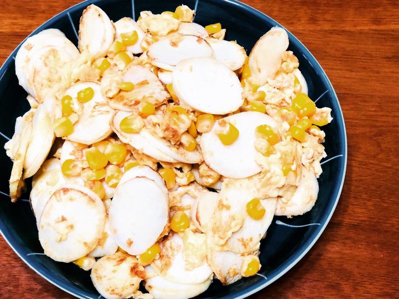茭白筍炒玉米蛋
