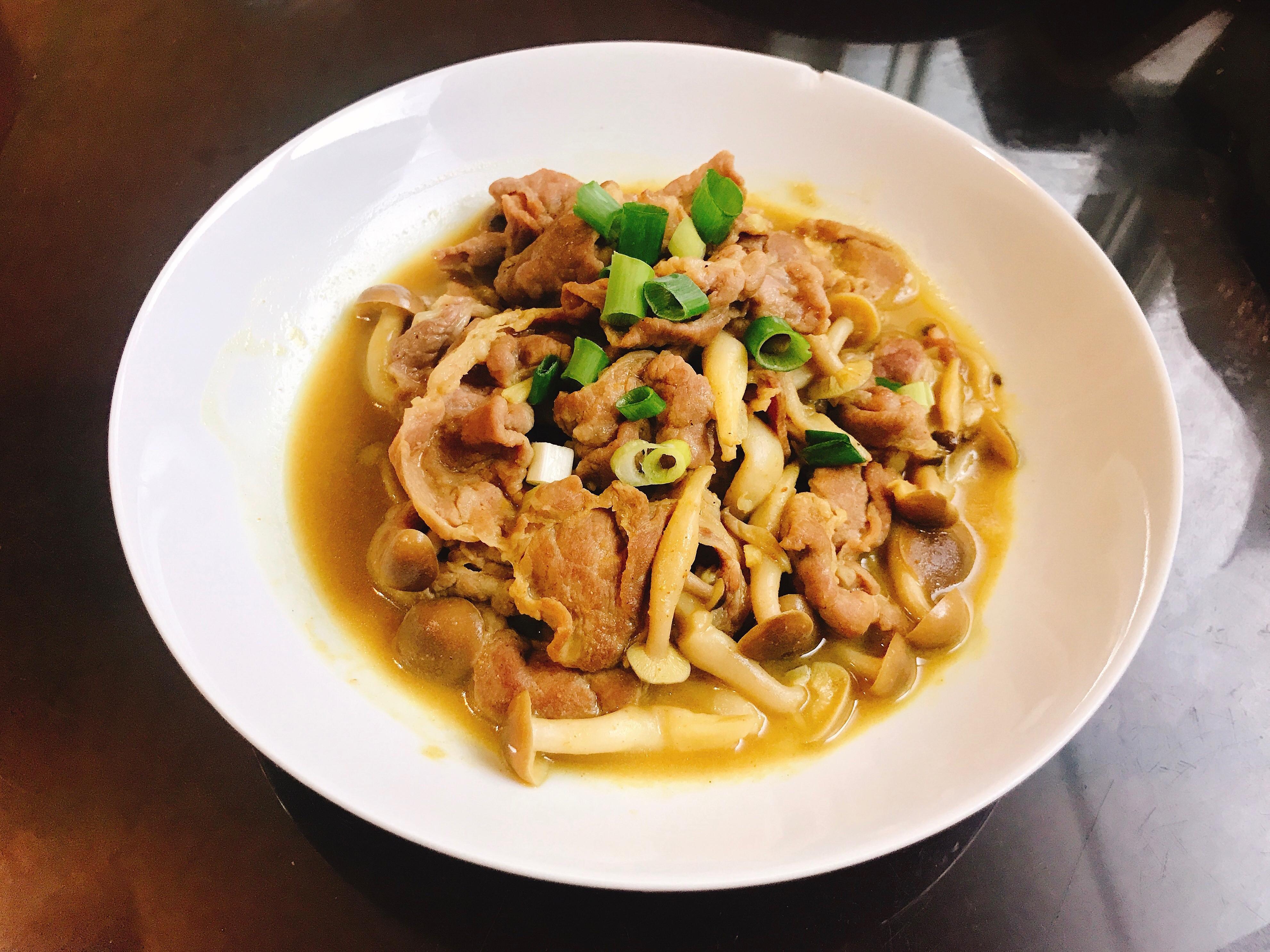 咖喱菇菇豬梅花