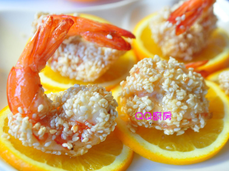 【黃金玄米油清爽料理】香蜜芝麻蝦