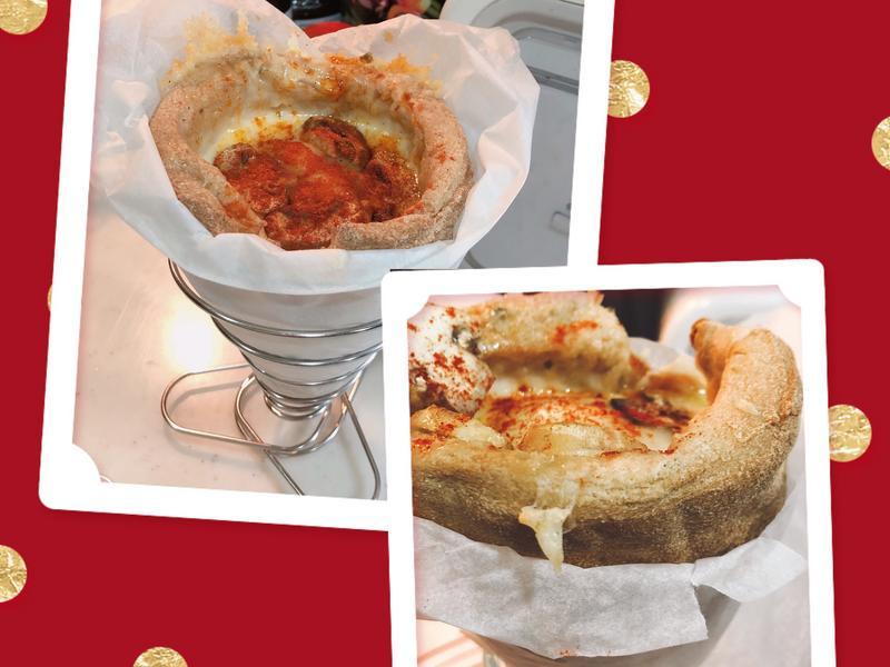 生酮版披薩圓錐筒(Pizza Cone)