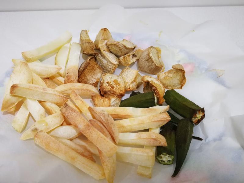 氣炸鍋料理-炸蔬菜、薯條(低脂減肥料理)