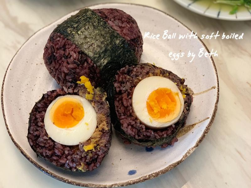 紫米溏心蛋飯糰