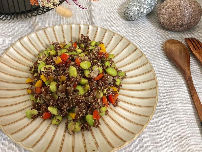 藜麥甜椒毛豆