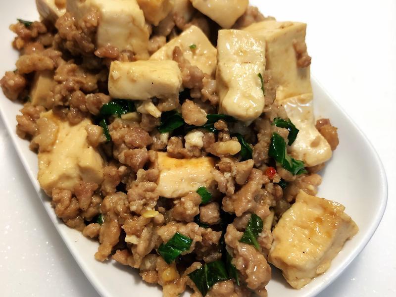 塔香豆腐炒肉
