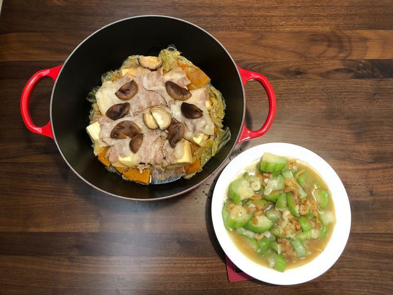 疊煮南瓜五花肉