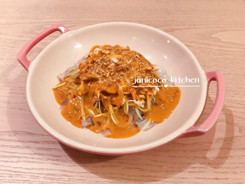 中式小菜🥘涼拌麻醬雞絲粉皮