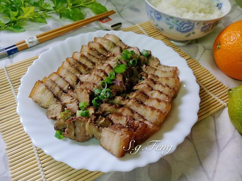 清蒸鹹豬肉&白飯(電子鍋版)