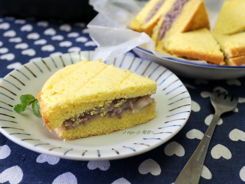 芋泥夾心蛋糕(電子鍋)