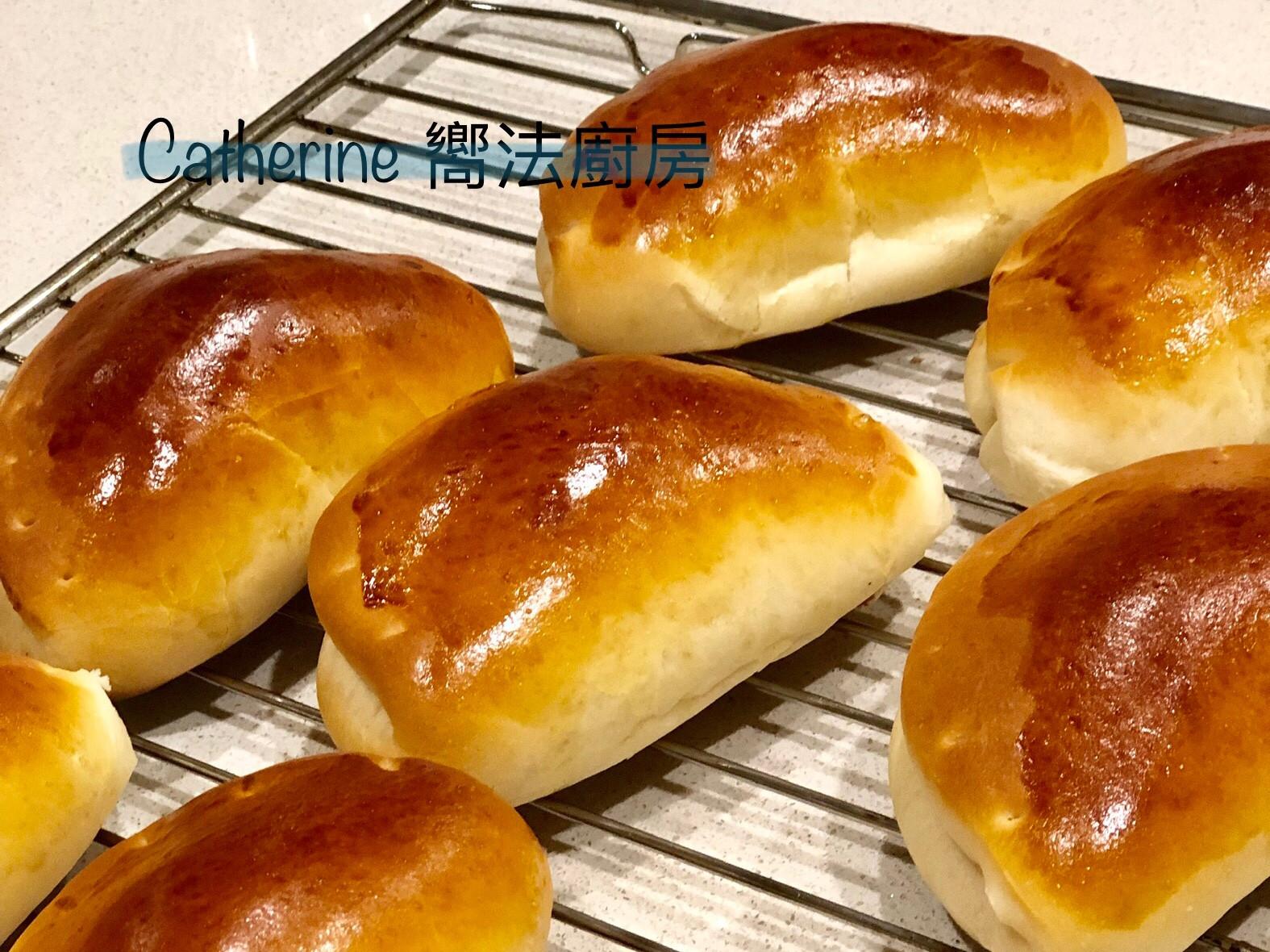 家庭卡士達麵包~免機器