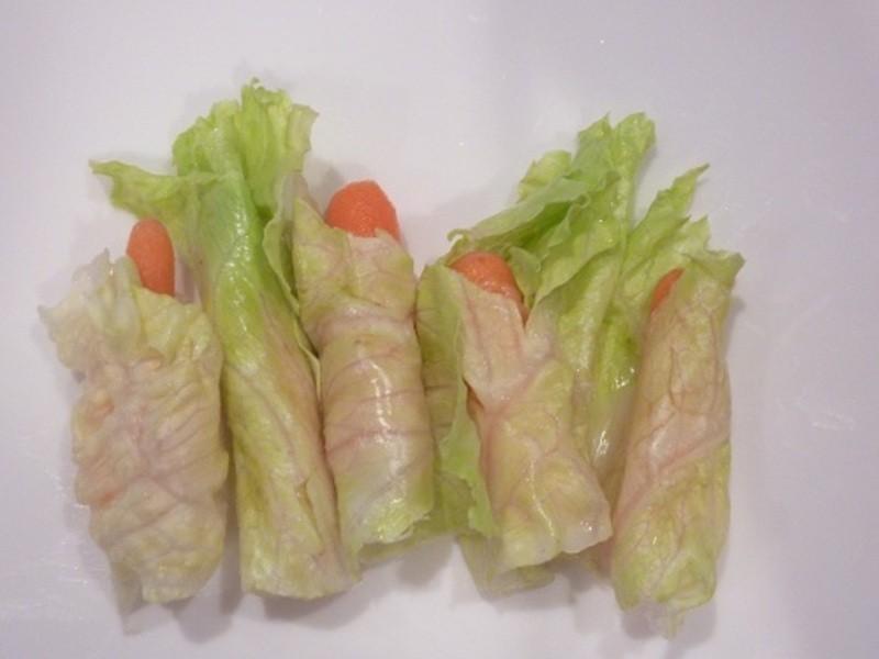 《五分鐘便當》生菜紅蘿蔔點心