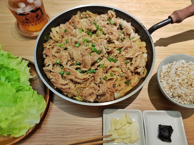 鐵板韓國烤豬肉
